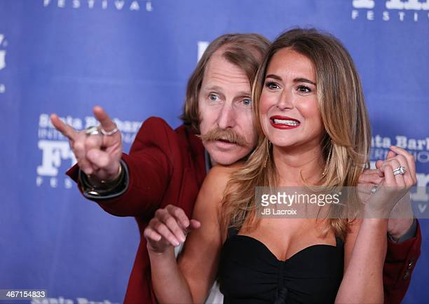 Lew Temple and Alexa Vega attend the 29th Santa Barbara International Film Festival Montecito Award held at Arlington Theatre on February 5 2014 in...