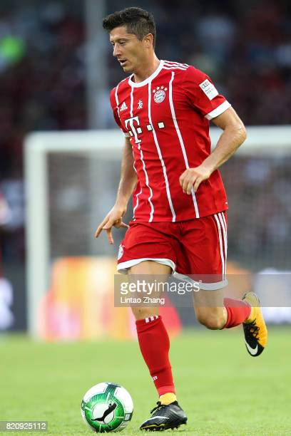 Lewandowski of Muenchen in action during the 2017 International Champions Cup China match between FC Bayern and AC Milan at Universiade Sports Centre...