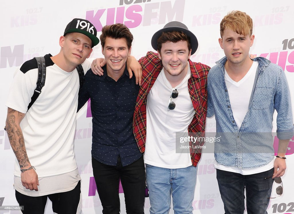 Lewi Morgan, Charley Bagnall, Jake Roche and Danny Wilkin of the band Rixton attend 102.7 KIIS FM's 2014 Wango Tango at StubHub Center on May 10, 2014 in Los Angeles, California.