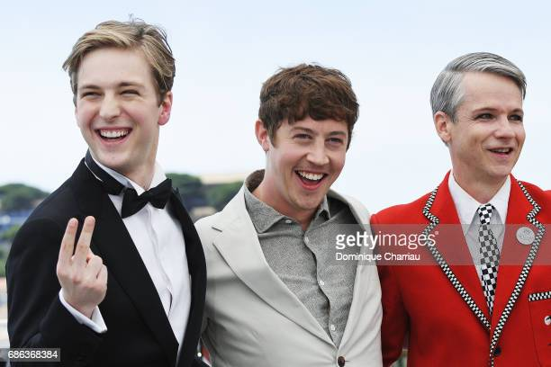 J Lewis Alex Sharp and director John Cameron Mitchell attend the 'How To Talk To Girls At Parties' photocall during the 70th annual Cannes Film...