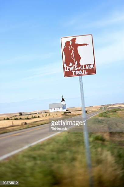 Lewis and Clark sign, North Dakota