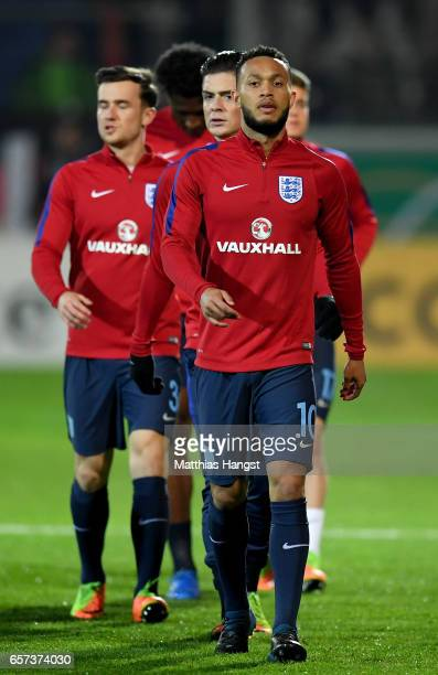 Lewis Baker of England is seen prior to the U21 international friendly match between Germany and England at BRITAArena on March 24 2017 in Wiesbaden...