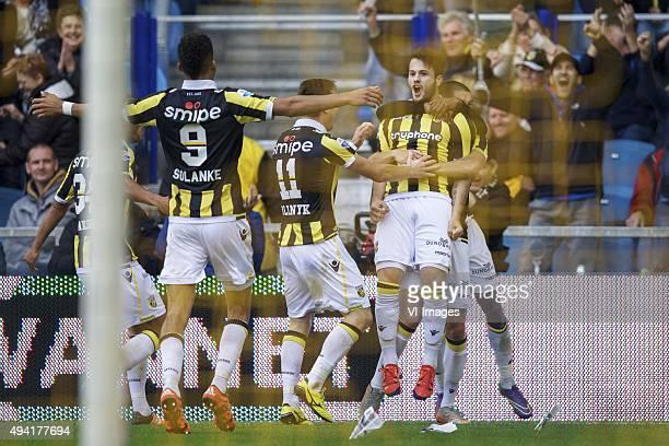 Lewis Baker of Vitesse Dominic Solanke of Vitesse Denys Oliinyk of Vitesse Valeri Qazaishvili of Vitesse Kelvin Leerdam of Vitesse during the Dutch...