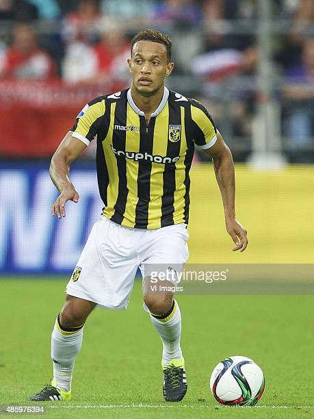 Lewis Baker of Vitesse during the Dutch Eredivisie match between Feyenoord and Vitesse Arnhem at the Kuip on August 23 2015 in Rotterdam The...