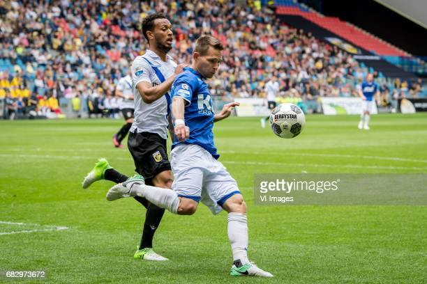 Lewis Baker of Vitesse Martin Milec of Roda JCduring the Dutch Eredivisie match between Vitesse Arnhem and Roda JC Kerkrade at Gelredome on May 14...