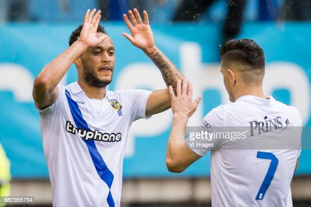 Lewis Baker of Vitesse Milot Rashica of Vitesse 30during the Dutch Eredivisie match between Vitesse Arnhem and Roda JC Kerkrade at Gelredome on May...