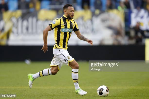 Lewis Baker of Vitesseduring the Dutch Eredivisie match between Vitesse Arnhem and sc Heerenveen at Gelredome on April 08 2017 in Arnhem The...