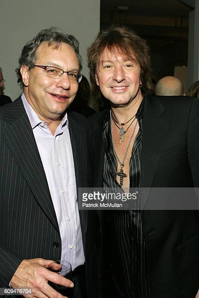 Lewis Black and Richie Sambora attend Jon Bon Jovi and Kenneth Cole Team Up For An Unforgettable Night of Fundraising At 'RSVP To Help' at Tribeca...
