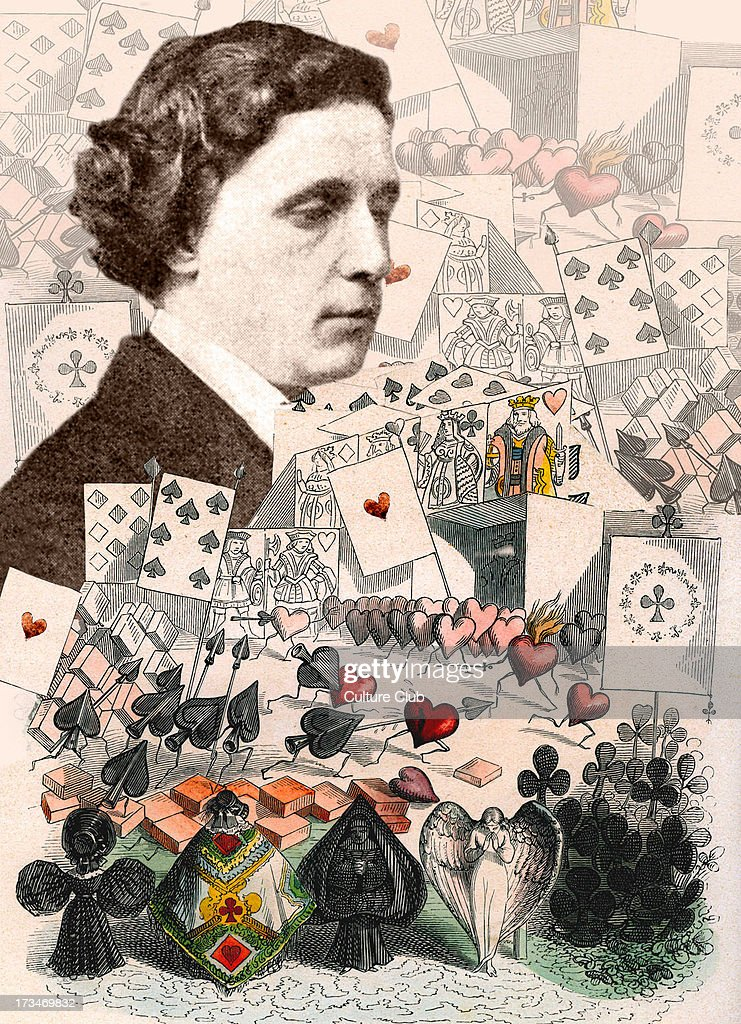 Lewis Carroll - collage of <b>Alice in Wonderland</b> illustrations with portrait <b>...</b> - lewis-carroll-collage-of-alice-in-wonderland-illustrations-with-of-picture-id173469832