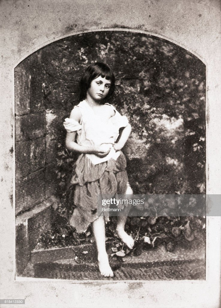 Lewis Carrol's hand-colored photograph of <a gi-track='captionPersonalityLinkClicked' href=/galleries/search?phrase=Alice+Liddell&family=editorial&specificpeople=977449 ng-click='$event.stopPropagation()'>Alice Liddell</a>, the original Alice in Wonderland, thought by Tennyson to be the most beautiful photograph he had ever seen. Circa 1862.