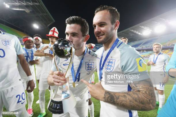 Lewis Cook and Adam Armstrong of England celebrate with the trophy after the FIFA U20 World Cup Korea Republic 2017 Final match between Venezuela and...