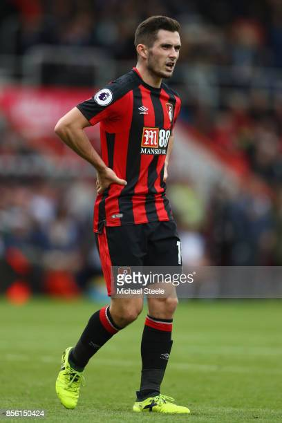 Lewis Cook of Bournemouth during the Premier League match between AFC Bournemouth and Leicester City at Vitality Stadium on September 30 2017 in...