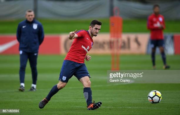 Lewis Cook of England at St Georges Park on October 4 2017 in BurtonuponTrent England