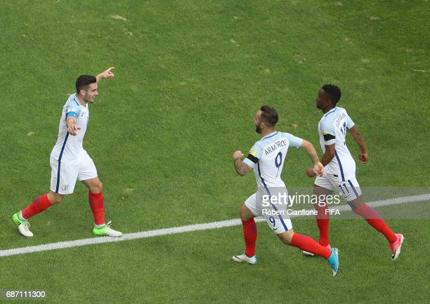 Lewis Cook of England celebrates after scoring a goal during the FIFA U20 World Cup Korea Republic 2017 group A match between England and Guinea at...
