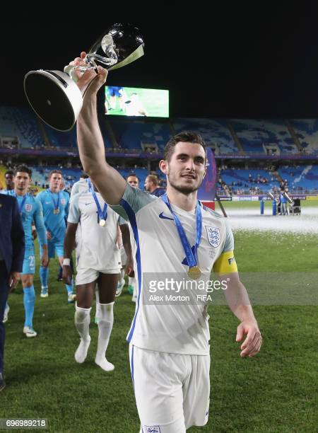 Lewis Cook of England celebrates with the trophy after the FIFA U20 World Cup Korea Republic 2017 Final match between Venezuela and England at Suwon...