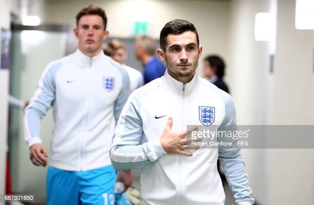 Lewis Cook of England leads his team out of the dressing room during the FIFA U20 World Cup Korea Republic 2017 group A match between England and...
