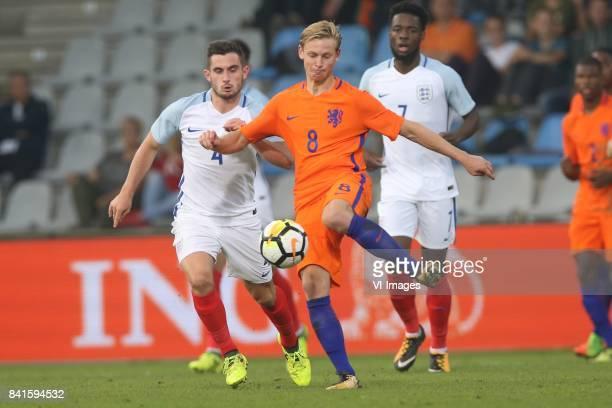 Lewis Cook of England U21 Frenkie de Jong of Holland U21 during the EURO U21 2017 qualifying match between Netherlands U21 and England U21 at the...