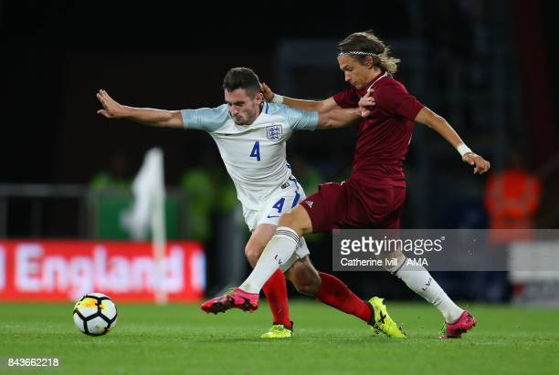 Lewis Cook of England U21 in action during the UEFA Under 21 Championship Qualifier match between England and Latvia at Vitality Stadium on September...