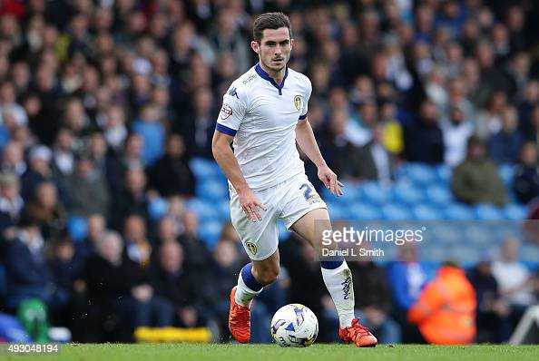 Lewis Cook of Leeds United FC controls the ball during the Sky Bet Championship match between Leeds United and Brighton Hove Albion at Elland Road on...