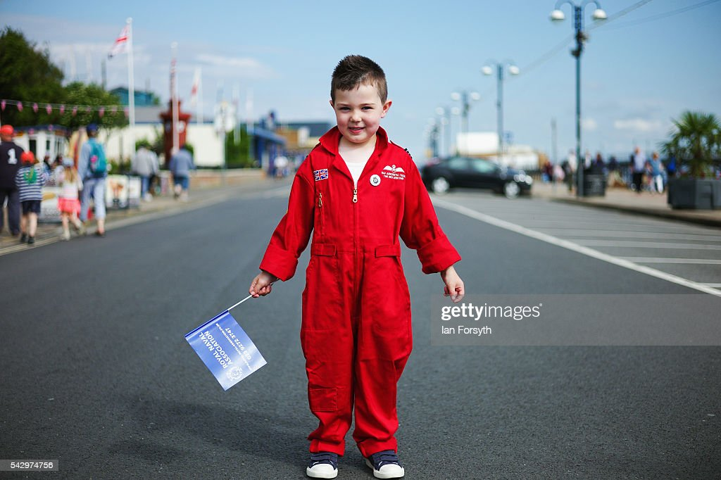 Lewis Dixon, 4, from Cleethorpes wears a red flying suit as he attends the Armed Forces Day National Event on June 25, 2016 in Cleethorpes, England. The visit by the Prime Minister came the day after the country voted to leave the European Union. Armed Forces Day is an annual event that gives an opportunity for the country to show its support for the men and women in the British Armed Forces.
