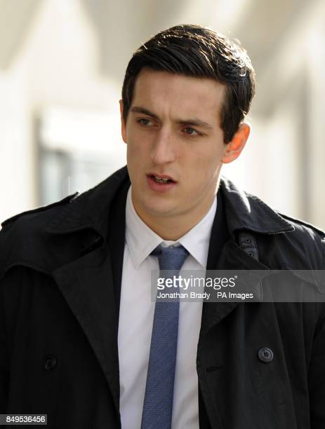 Lewis Dunk arrives for the afternoon session of a continuing trial over sexual assault and voyeurism charges at the Old Bailey London