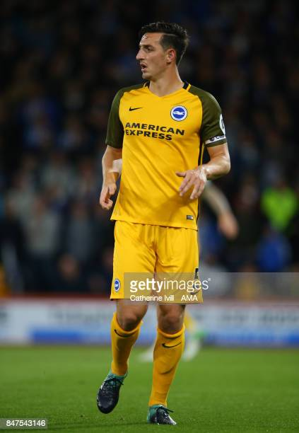 Lewis Dunk of Brighton and Hove Albion during the Premier League match between AFC Bournemouth and Brighton and Hove Albion at Vitality Stadium on...