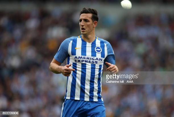 Lewis Dunk of Brighton and Hove Albion during the Premier League match between Brighton and Hove Albion and Newcastle United at Amex Stadium on...