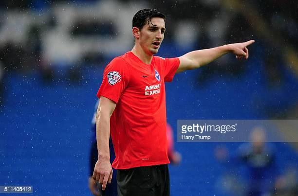Lewis Dunk of Brighton and Hove Albion during the Sky Bet Championship match between Cardiff City and Brighton and Hove Albion at the Cardiff City...
