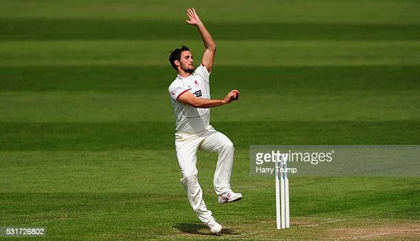Lewis Gregory of Somerset during Day Two of the Specsavers County Championship Division One match between Somerset and Yorkshire at the Cooper...