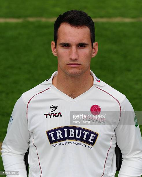 Lewis Gregory of Somerset during the Somerset CCC Photocall at the County Ground on April 8 2016 in Taunton England