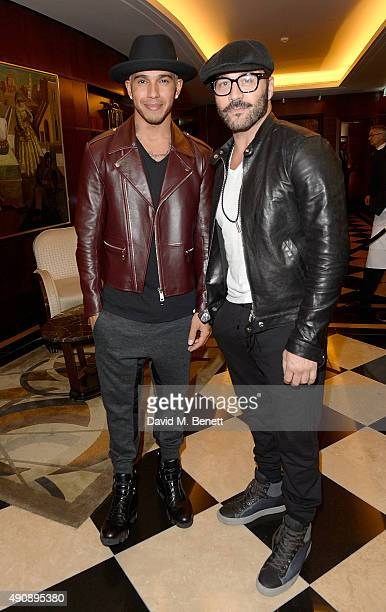 Lewis Hamilton and Jeremy Piven arrive at the London launch of Casamigos Tequila and Cindy Crawford's book 'Becoming' hosted by Rande Gerber George...