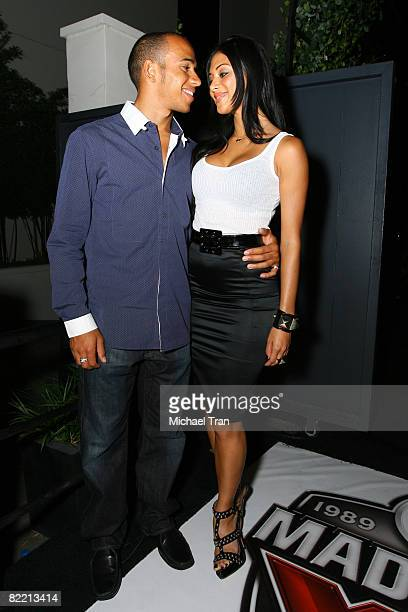 Lewis Hamilton and Nicole Scherzinger at the 20th Anniversary of Madden NFL Franchise Celebration Hosted by EA Sports at STK/CoCo De Ville in West...