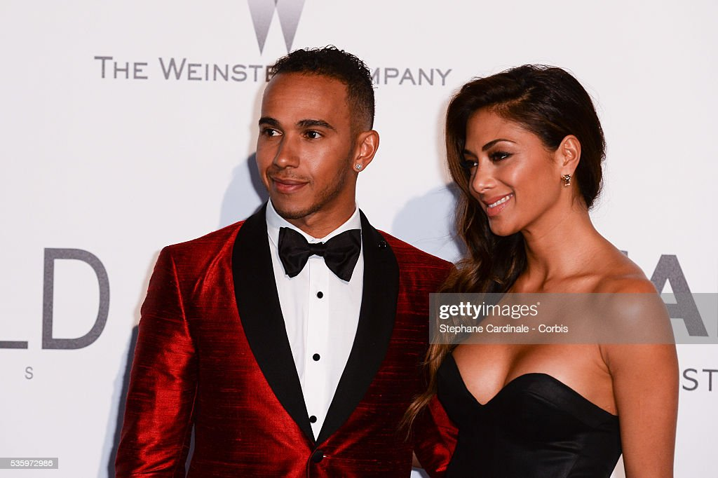 Lewis Hamilton and Nicole Scherzinger at the amfAR's 21st Cinema Against AIDS Gala at Hotel du Cap-Eden-Roc during the 67th Cannes Film Festival