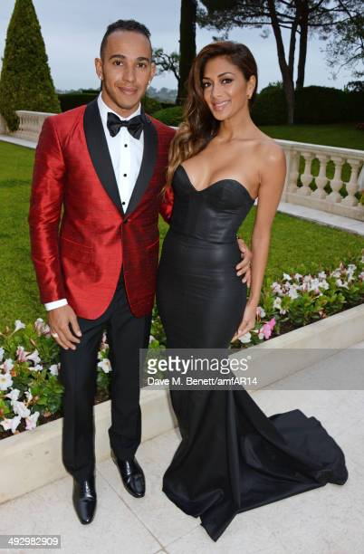 Lewis Hamilton and Nicole Scherzinger attend amfAR's 21st Cinema Against AIDS Gala presented by WORLDVIEW BOLD FILMS and BVLGARI at Hotel du...