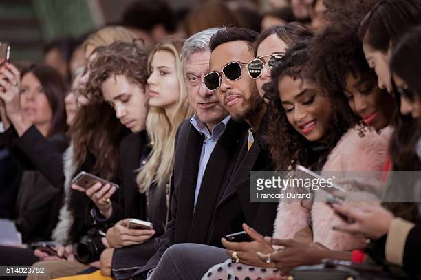 Lewis Hamilton ans Sidney Toledano attend the John Galliano show as part of the Paris Fashion Week Womenswear Fall/Winter 2016/2017 on March 6 2016...