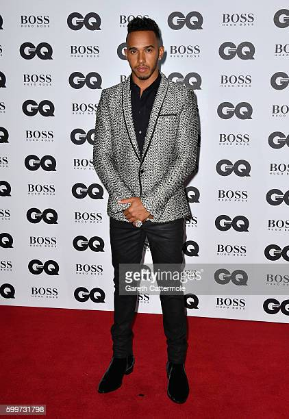 Lewis Hamilton arrives for GQ Men Of The Year Awards 2016 at Tate Modern on September 6 2016 in London England