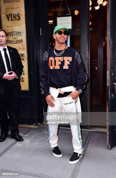 Lewis Hamilton arrives to Balthazar on September 10 2017 in New York City