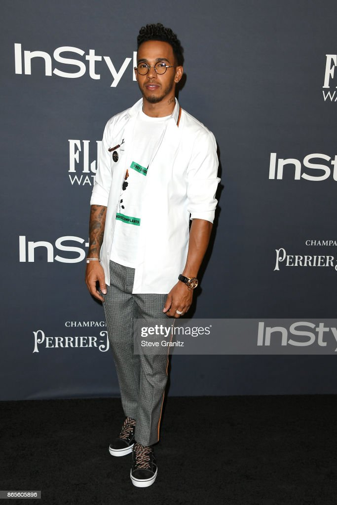Lewis Hamilton attends the 3rd Annual InStyle Awards at The Getty Center on October 23, 2017 in Los Angeles, California.