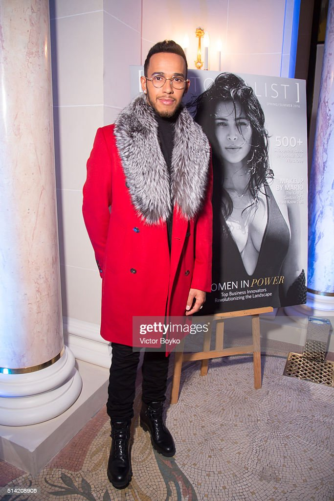 Lewis Hamilton attends the Editorialist Spring/Summer 2016 Issue Launch Party at the Hotel Peninsula as part of the Paris Fashion Week Womenswear Fall/Winter 2016/2017 on March 7, 2016 in Paris, France.