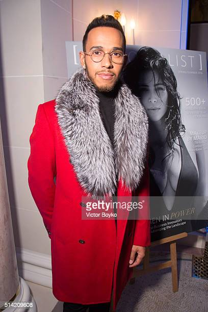 Lewis Hamilton attends the Editorialist Spring/Summer 2016 Issue Launch Party at the Hotel Peninsula as part of the Paris Fashion Week Womenswear...