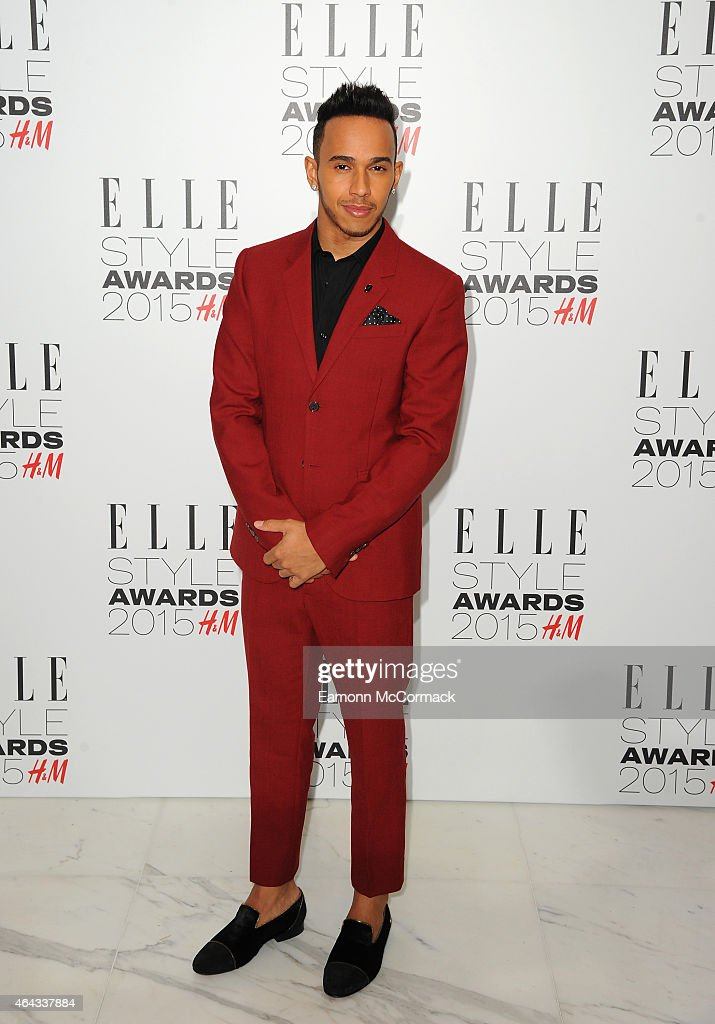 Lewis Hamilton attends the Elle Style Awards 2015 at Sky Garden @ The Walkie Talkie Tower on February 24, 2015 in London, England.