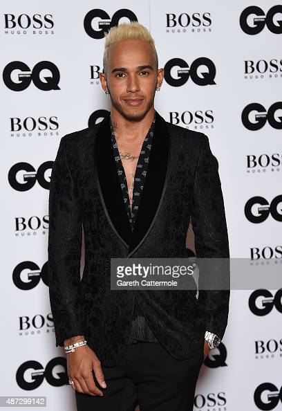Lewis Hamilton attends the GQ Men Of The Year Awards at The Royal Opera House on September 8 2015 in London England