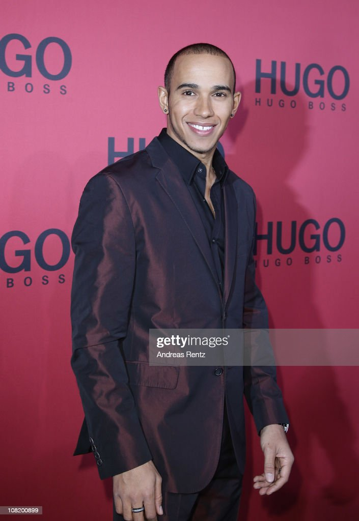 <a gi-track='captionPersonalityLinkClicked' href=/galleries/search?phrase=Lewis+Hamilton+-+Racecar+Driver&family=editorial&specificpeople=586983 ng-click='$event.stopPropagation()'>Lewis Hamilton</a> attends the Hugo Boss Show during the Mercedes Benz Fashion Week Autumn/Winter 2011 at Neue Nationalgalerie on January 20, 2011 in Berlin, Germany.