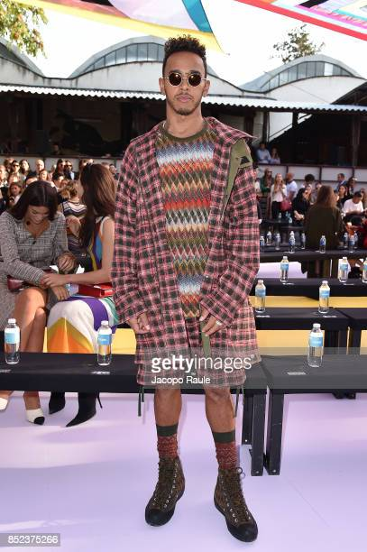Lewis Hamilton attends the Missoni show during Milan Fashion Week Spring/Summer 2018 on September 23 2017 in Milan Italy