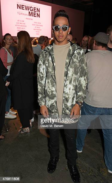 Lewis Hamilton attends the Topman Design show during London Collections Men SS16 at The Old Sorting Office on June 12 2015 in London England