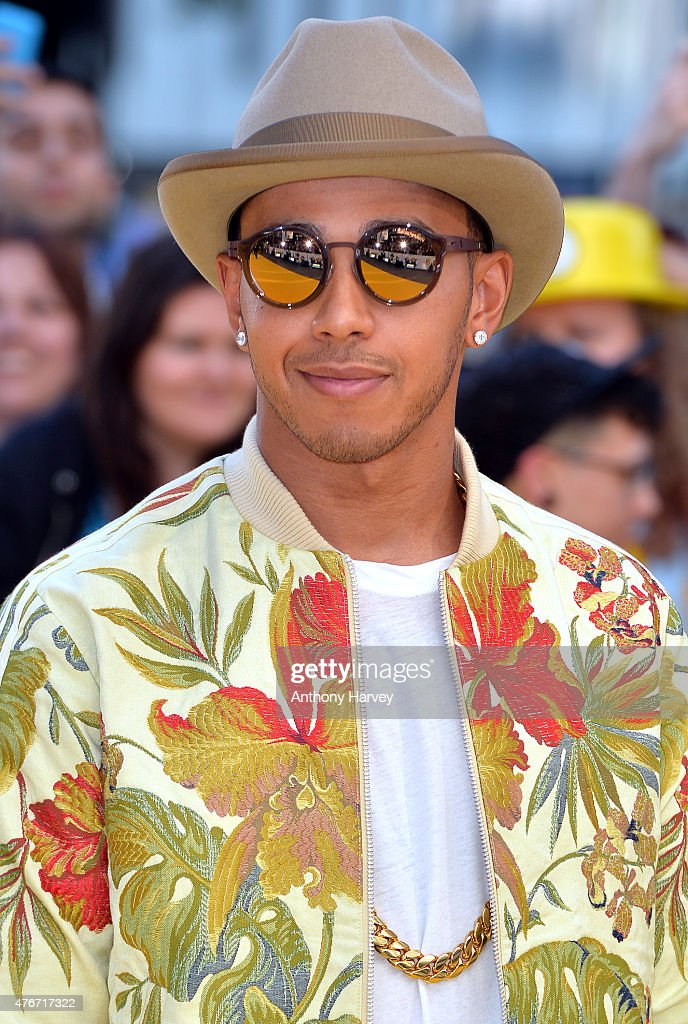 Lewis Hamilton attends the World Premiere of 'Minions' at Odeon Leicester Square on June 11 2015 in London England