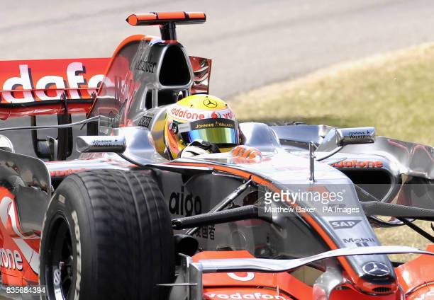 Lewis Hamilton drives his McLaren Mercedes MP4/23 F1 car during the 2009 Goodwood Festival of Speed