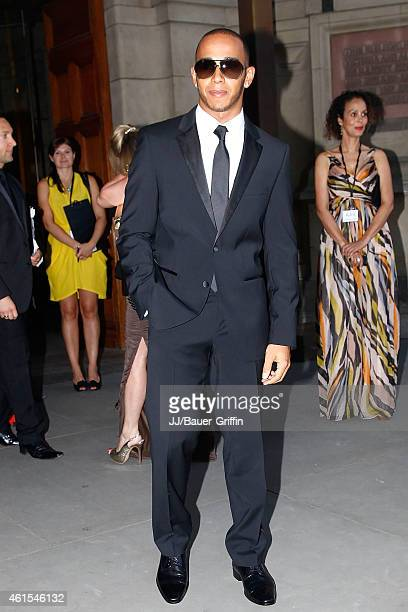 Lewis Hamilton is seen at the Muhammad Ali charity event on July 25 2012 in London United Kingdom
