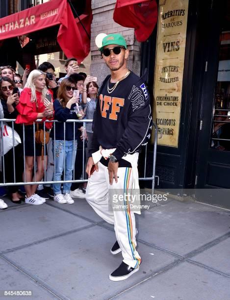 Lewis Hamilton leaves Balthazar on September 10 2017 in New York City