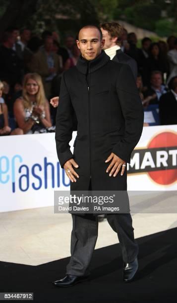 Lewis Hamilton models at the Grand Prix and Fashion Unite at The Amber Lounge Le Meridien Beach Plaza Hotel Monaco